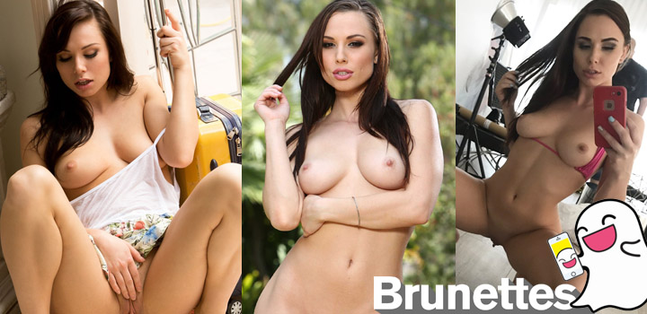 Brunette pornstar Aidra Fox on Snapchat